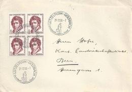 Brief  Lützelflüh-Goldbach - Bern  (PJ VB Frankatur)         1955 - Suisse