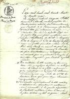 1838 BREST FORTIFICATIONS  FORT DE GUESTEL-BRAS  Redoute Du QUESTEL CONSTRUCTION ZONE MILITAIRE  SIGN. CACHET  FINISTERE - Historische Dokumente