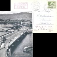 "AK  ""Zürich - Quaibrücke""  (Sonderstempel Chemie Kongress)          1955 - Suisse"