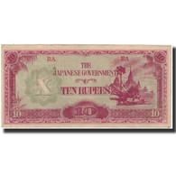 Billet, Birmanie, 10 Rupees, KM:16a, TTB+ - Myanmar