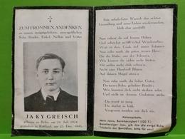 Luxembourg WW2, Sterbebilder. Jaky Greisch. Gestorben In Russland 1943 - Cartes Postales