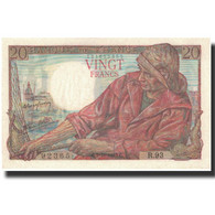 France, 20 Francs, Pêcheur, 1943, 1943-10-07, NEUF, Fayette:13.7, KM:100a - 1871-1952 Anciens Francs Circulés Au XXème