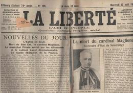 La Liberté - Fribourg - Suisse - 23.08.1944 - Petain Arrêté Par Les Allemands - Maglione - Campagne De France - - Autres
