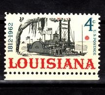 USA, 1962- Louisiana Statehood Sesqiuicentennial. NewNH - United States