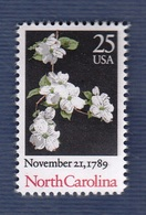 USA,1989- North Carolina Statehood Bicentenary. Full Issue. NewNH - United States
