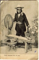 C. P. A. : GUATEMALA : Indio Haciendo Hilo De Lana, En 1913 - Guatemala