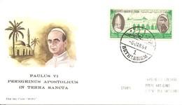 GIORDANIA - 1964 BETHLEHEM Visita Di Papa PAOLO VI In Terra Santa Su Busta Speciale Roma - 2934 - Papi