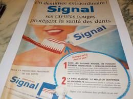 ANCIENNE  PUBLICITE EXTRAORDINAIRE DENTIFRICE SIGNAL 1961 - Profumi & Bellezza