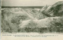 61. Environs De REIMS (Marne)- Fort De La Pompelle Côté Du Canal (Cliché 1918) M.D. - Guerra 1914-18
