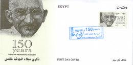 Fdc`s EGYPT 2019 MAHATMA GANDHI INDIA BIRTH 150 ANNIV, SECOND GLOSSY PRINTING */* - Mahatma Gandhi