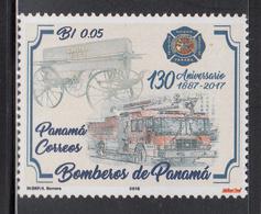2018 Panama Firemen Firetrucks  Complete Set Of 1 MNH - Panama