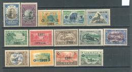 Liberia 1921 Complete Set MLH - Liberia