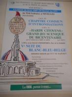 AFFICHE NIVELLES CHAPITRE COMMUN D'INTRONISATIONS HARDY CITOYENS BICENTENAIRE RÉVOLUTION 1989 HISTOIRE FOLKLORE CULTURE - Affiches