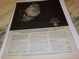 ANCIENNE PUBLICITE SEAMASTER  MONTRE OMEGA 1961 - Joyas & Relojería