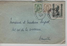 REF528/ TP 425-420-618 Antituberculeux Surtaxe S/L. C.Antwerpen 1/7/1943 > BXL - Briefe U. Dokumente