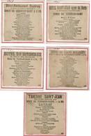 1897 - 5 Coupures De Presse - Menus De Vendredi-Saint - Hôtel & Restaurants à Bruxelles - Voir Scan - Menus