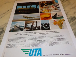 ANCIENNE PUBLICITE AFRIQUE  ET UTA 1968 - Publicités