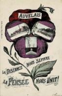 Auvelais La Distance Nous Sépare La Pensée Nous Unit Circulée En 1909 - Sambreville