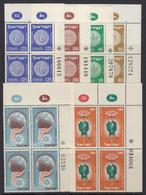 Israel. 1953/54 Nr. 92/97, 4-Blocks.Marginal SHEET Nummer. MNH. Price? - Israel