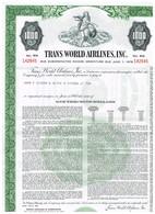 Titre Ancien - Trans World Airlines Inc.  - Obligation De 1961 - Aviation