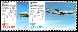Uruguay 1982 Lufthansa Flight Unmounted Mint. - Uruguay