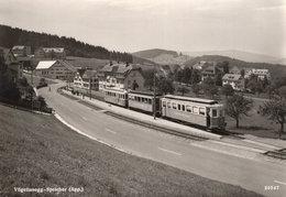 Vogelinsegg Spelcher Tram Train Switzerland Real Photo Postcard - Autobús & Autocar