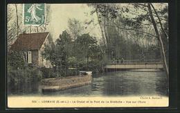 CPA Lormaye, Le Chalet Et Le Pont De La Breteche, Vue Sur L`Eure - Non Classificati