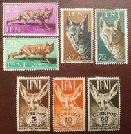 IFNI - Chacal (1958, 4 Valeurs) Et Fennec (1951, 3 Valeurs) MH - Cf Scan - Felini