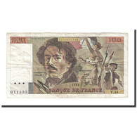 France, 100 Francs, Delacroix, 1986, TTB, Fayette:69.06, KM:154b - 1962-1997 ''Francs''