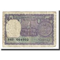 Billet, Inde, 1 Rupee, 1966-1980, KM:77i, TTB - Inde