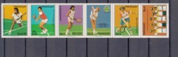 Paraguay 1986 Sport Tennis Mi#4029-4035 Mint Never Hinged Strip - Paraguay