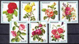 Paraguay 1974 Flowers Mi#2537-2543 Mint Never Hinged - Paraguay