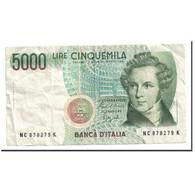 Billet, Italie, 5000 Lire, 1985, 1985-01-04, KM:111b, TTB+ - [ 2] 1946-… : Repubblica