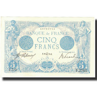 France, 5 Francs, Bleu, 1913, 1913-07-29, SPL, Fayette:2.19, KM:70 - 1871-1952 Antichi Franchi Circolanti Nel XX Secolo