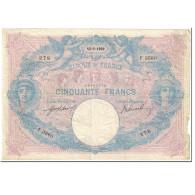 France, 50 Francs, Bleu Et Rose, 1908, 1909-05-12, TB, Fayette:14.22, KM:64e - 50 F 1889-1927 ''Bleu Et Rose''