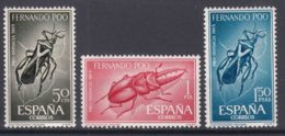 Fernando Po Insects 1965 Mi#238-240 Mint Never Hinged - Fernando Po