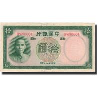 Billet, Chine, 10 Yüan, 1937, 1937, KM:81, TTB+ - Chine