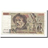France, 100 Francs, Delacroix, 1980, TTB, Fayette:69.4b, KM:154b - 1962-1997 ''Francs''