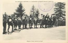 """.CPA FRANCE 42 """"Mont Pilat, La Jasserie """"/ SKI - Mont Pilat"""