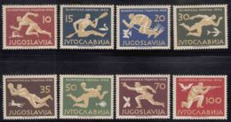 Yugoslavia Olympic Games In Melbourne 1956 Mi#804-811 Mint Hinged - Summer 1956: Melbourne