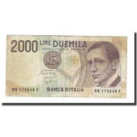 Billet, Italie, 2000 Lire, D.1990, KM:115, TTB+ - 2000 Lire