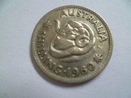RARE !! 1960 AUSTRALIA Shilling Elizabeth II Coin (WC # -26 ) - Australia