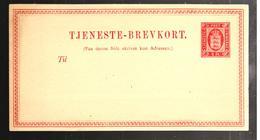 29464 - TJENESTE  BREVKORT - Entiers Postaux