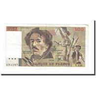 France, 100 Francs, Delacroix, 1986, TTB, Fayette:69.10, KM:154b - 1962-1997 ''Francs''