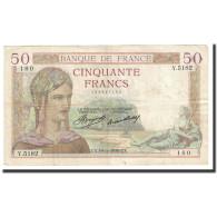 France, 50 Francs, Cérès, 1936, 1936-11-19, TTB, Fayette:17.31, KM:81 - 50 F 1934-1940 ''Cérès''