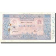 France, 1000 Francs, Bleu Et Rose, 1908, 1908-10-27, TB, Fayette:36.22, KM:67g - 50 F 1889-1927 ''Bleu Et Rose''