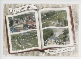Annet Sur Marne Souvenir : église Saint Germain, Camping En Bordure De La Marne, Château D'Etry (cp Vierge N°115) - France