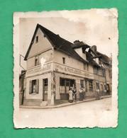 """Petite Photographie Canteleu Bapeaume Les Rouen Café Epicerie """"au Poste De Secours Contre La Soif"""" Format  6,3cm X 7cm - Lieux"""