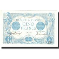 France, 5 Francs, Bleu, 1913, 1913-07-29, SPL, Fayette:2.19, KM:70 - 1871-1952 Gedurende De XXste In Omloop