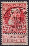 N° 74 Oblitération OORDEREN - 1905 Thick Beard